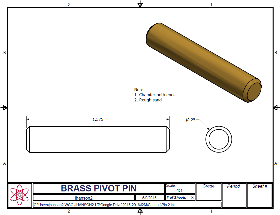 Cannon Pivot Pin